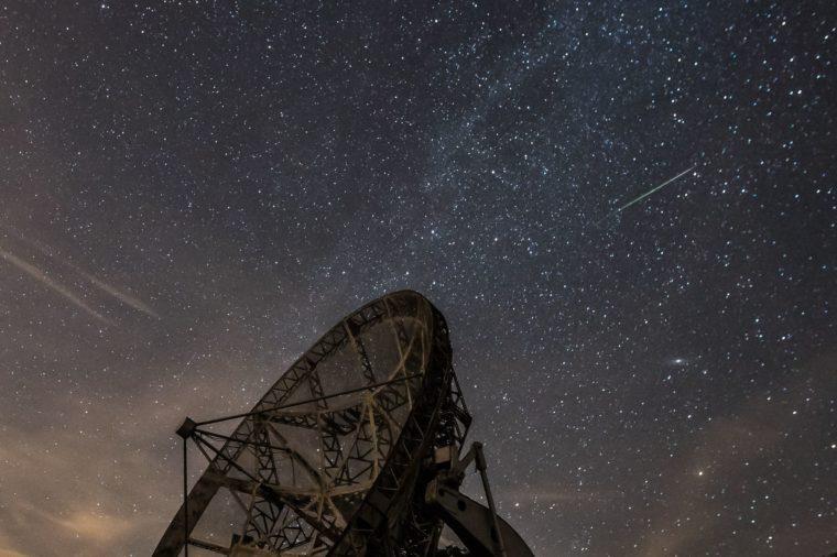 Perseid meteor shower in Czech Republic, Ondrejov - 12 Aug 2018