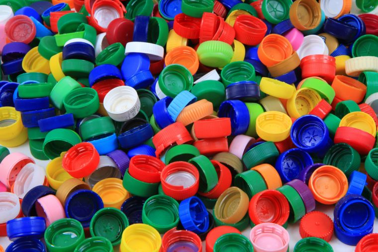 plastic pet caps texture as nice color background