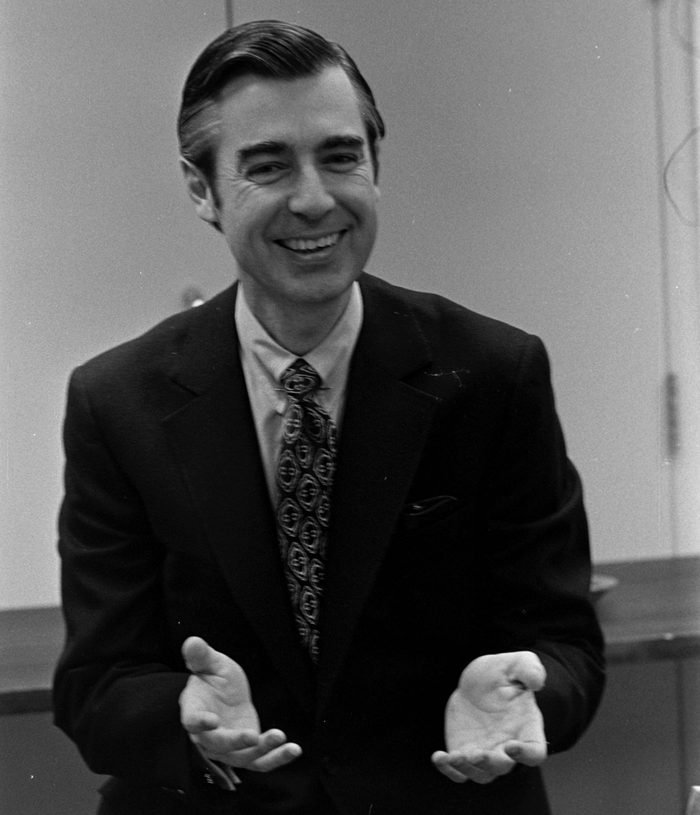 Public Broadcasting Fred Rogers with Al Warden (Astronaut) - 23 Feb 1972