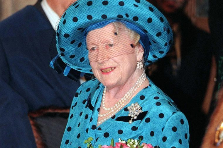 QUEEN ELIZABETH II AND PRINCE PHILIP 50TH ANNIVERSARY LUNCH AT THE GUILDHALL, LONDON, BRITAIN - NOV 1997 THE Queen Mother