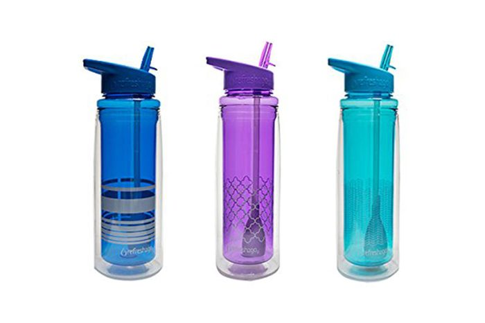 refresh2go 20oz Chill Double Wall Filtered Water Bottle, Purple (11030-PL-M)