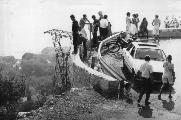The Scene In Monaco Where Princess Grace Of Monaco Died After The Car She Was Driving Crashed In September 1982.