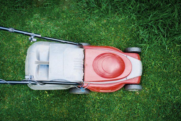 lawn mower overhead