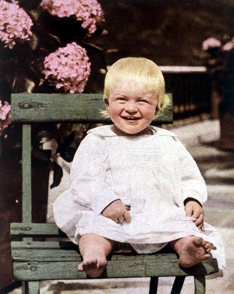 Queen Elizabeth II Prince Philip in Corfu pictured at the age of fourteen months in 1922