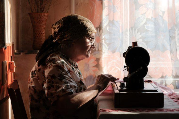 grandma sewing