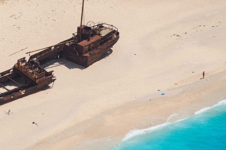 Shipwreck Panagiotis in Zakynthos Bay, Greece