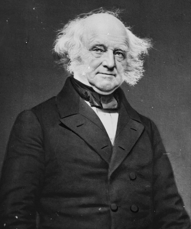 History Martin Van Buren (1782-1862) Eighth President of the United States of America (1837-1841), the first President to be born an American citizen.
