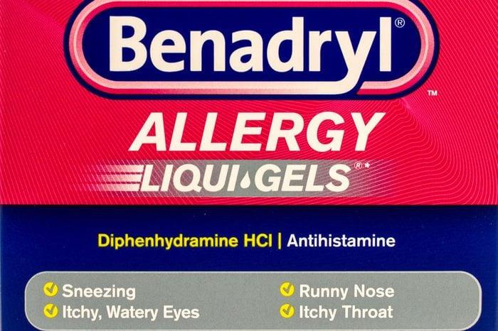benadryl packaged