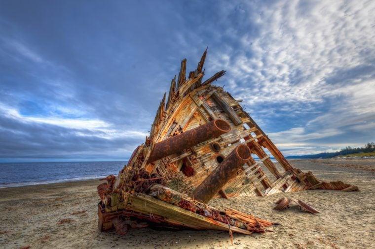 Pesuta Shipwreck, Naikoon Provincial Park, Haida Gwaii British Columbia Canada