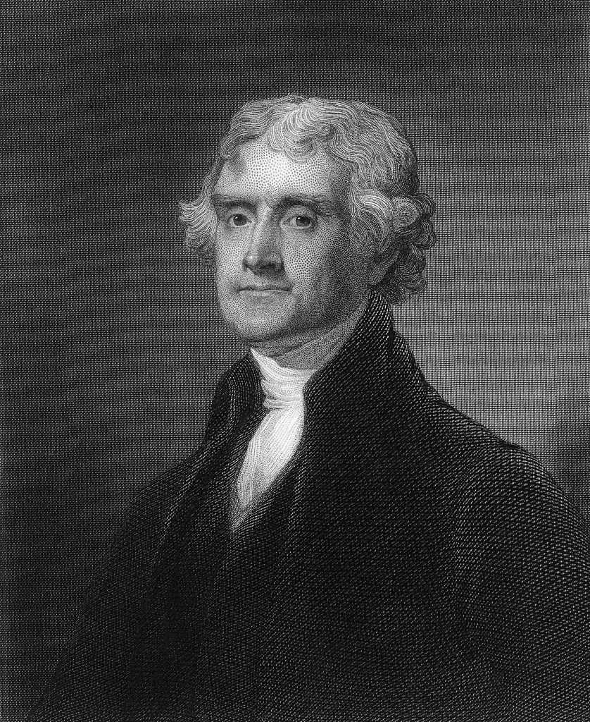 VARIOUS Engraving of Thomas Jefferson