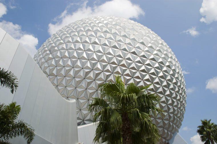 VARIOUS Spaceship Earth at Epcot, Walt Disney World Resort, Florida, USA