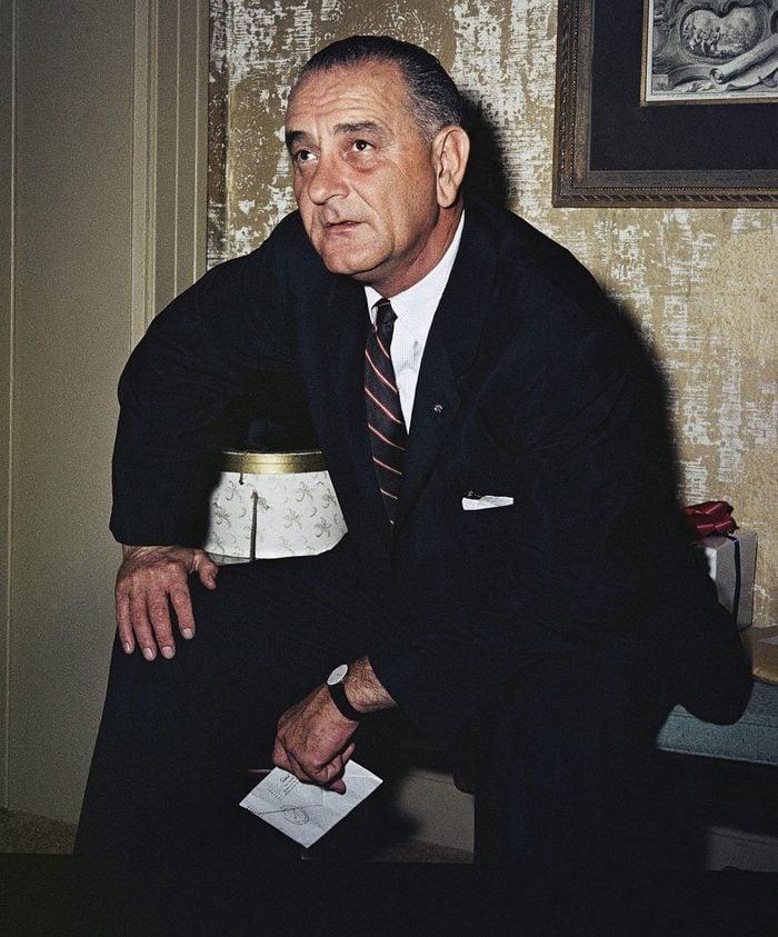 Sen. Lyndon B. Johnson Posing, Washington, USA