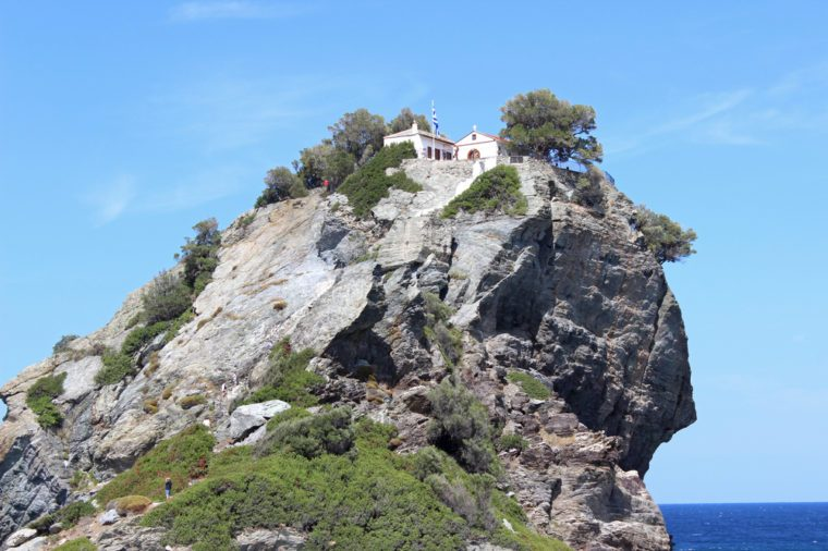 Church of Agios Ioannis Kastri Skopelos island Greece