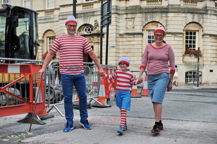 where's waldo family dressed up