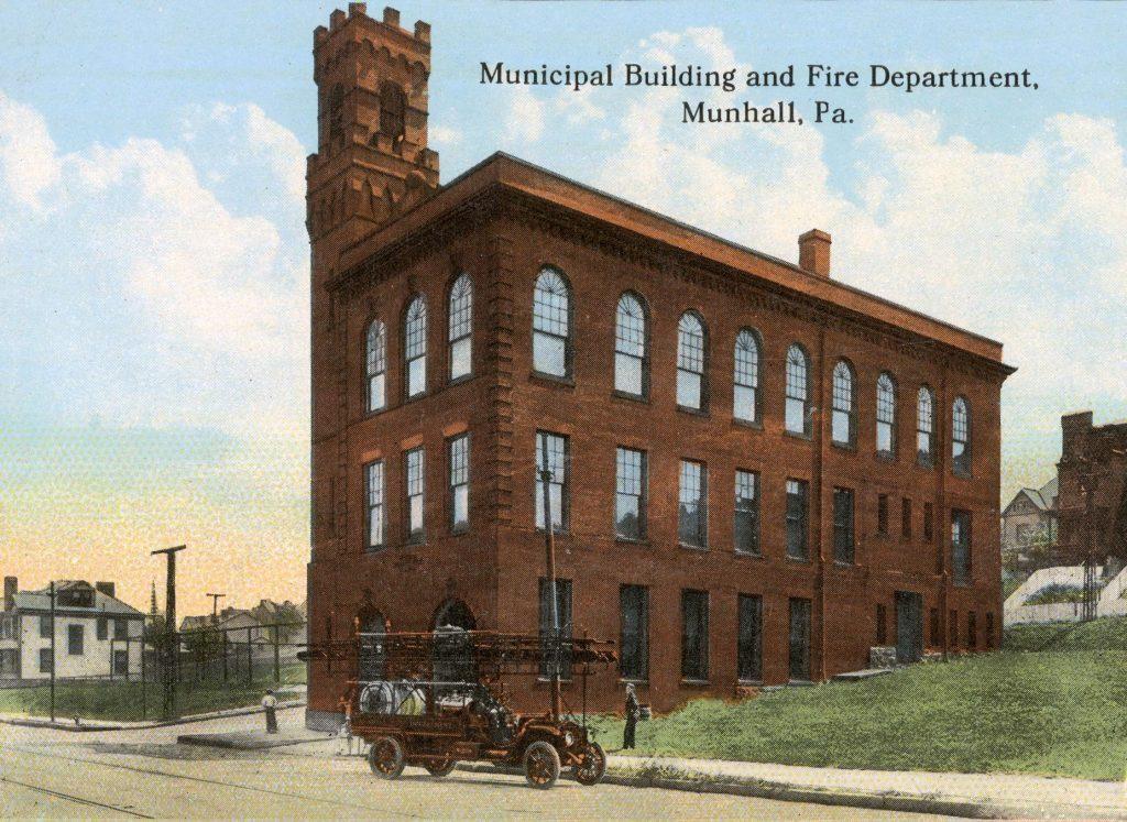 Municipal Building and Fire Department, Munhall, Pa, Usa, 1911