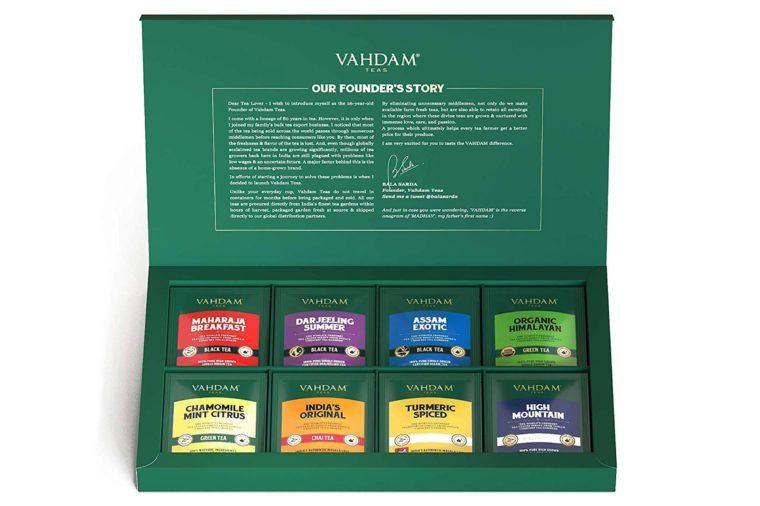vahdam tea bag sampler