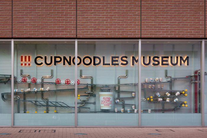 Tokyo, Japan - May 6, 2017: Cup noodles Museum Front display in Yokohama.