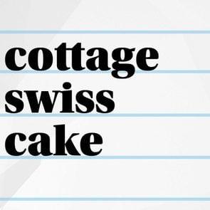 cottage swiss cake