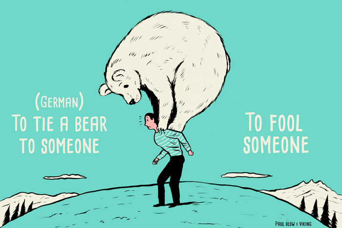 to tie a bear to somoene
