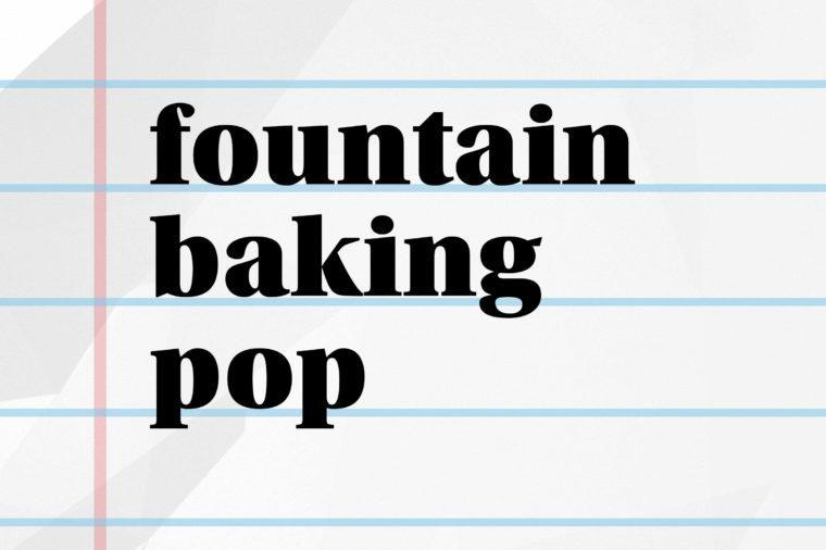 fountain baking pop