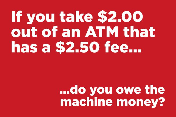 if you take $2 out