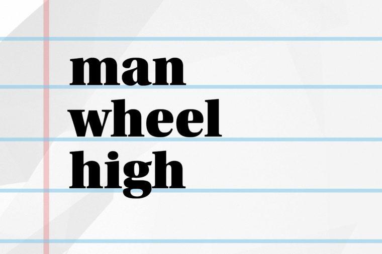 man wheel high