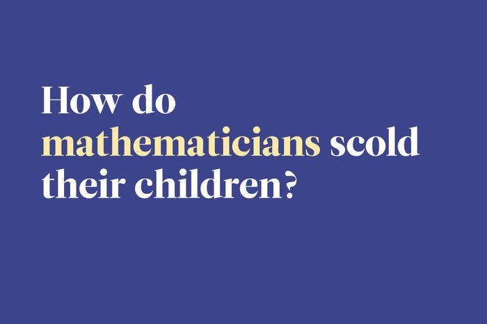 mathematicians scold