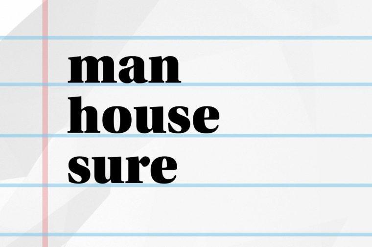 man house sure