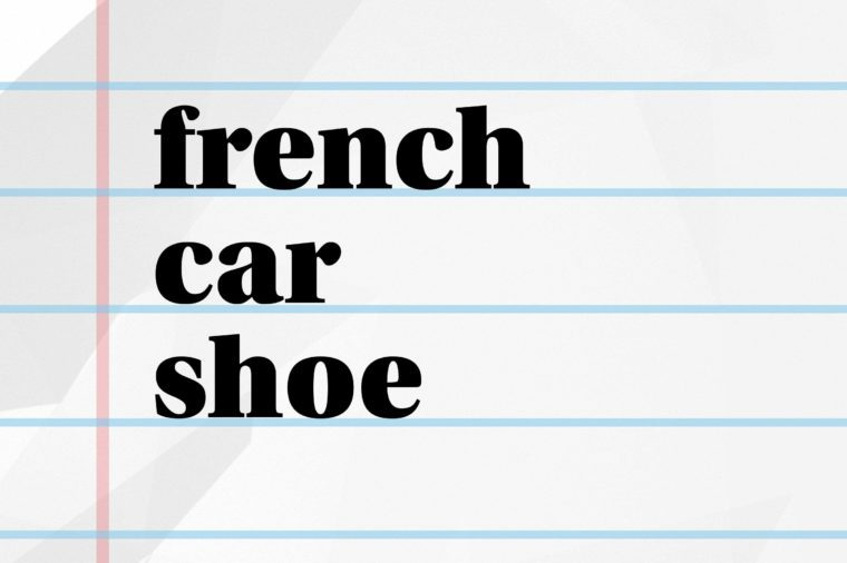 french car shoe