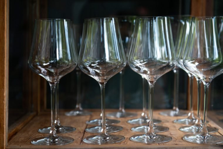 Group of empty Wine glasses; Matching wine glasses for Bordeaux wines: serve the perfect drink with our specialised glassware for the Bordeaux region.