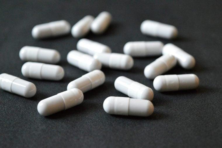 white capsules