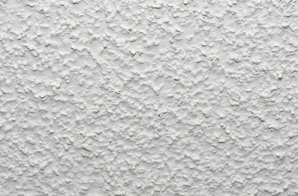 White acoustic popcorn ceiling texture