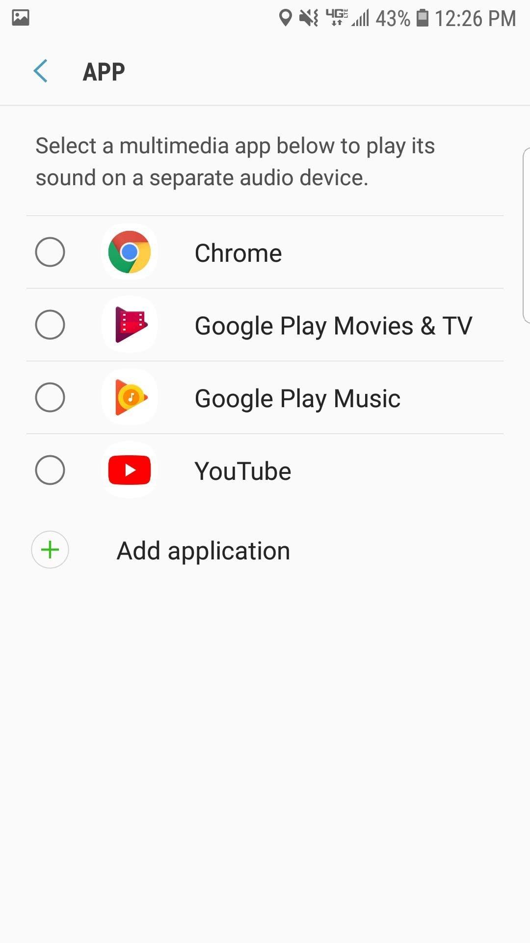 volume app specific