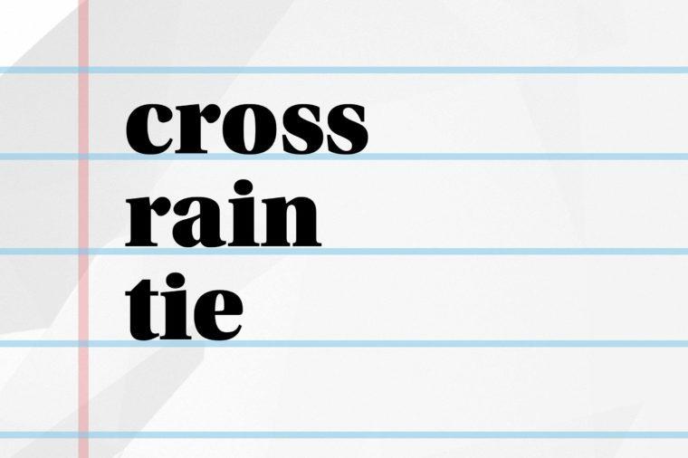 cross rain tie