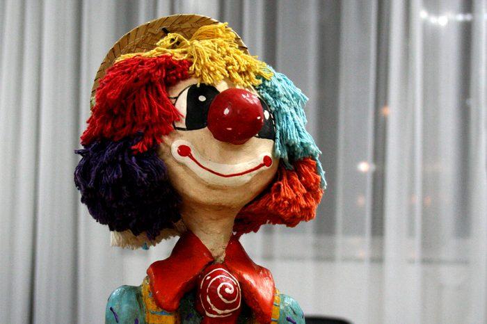 Clown wooden doll