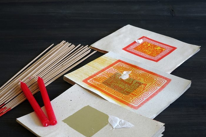 Joss Money, Candles and joss sticks used in Chinese Ghost Festival