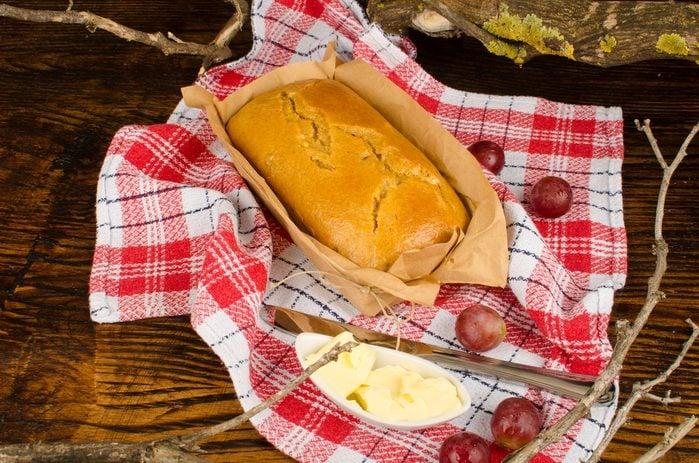 Freshly baked barnbrack, a traditional Halloween cake