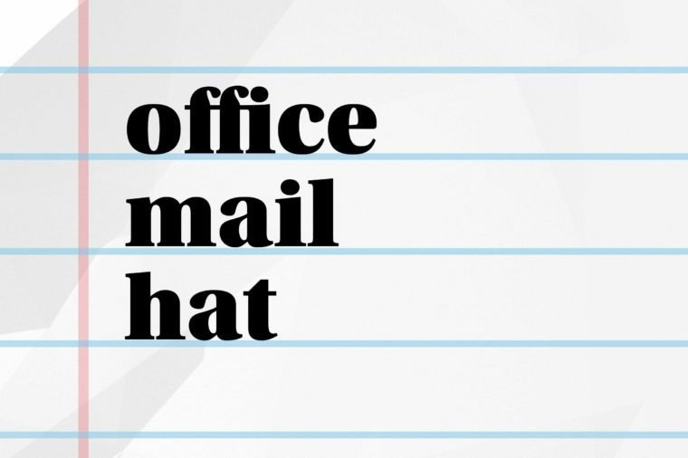 office mail hat