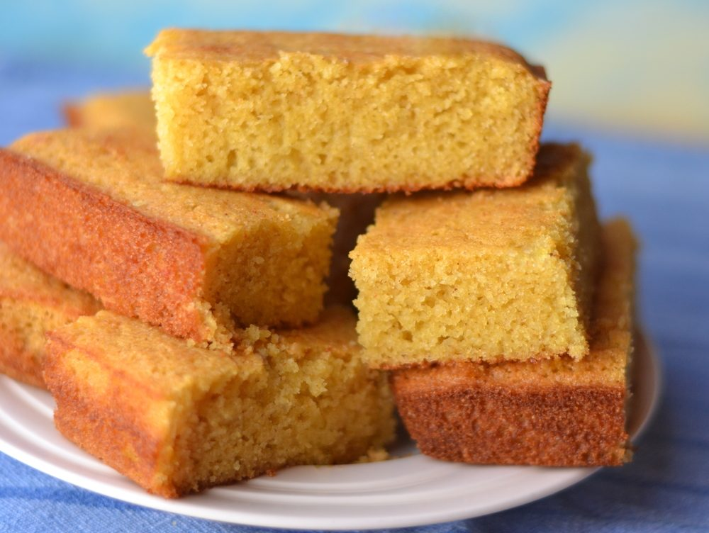 Cornbread made with Yellow Cornmeal and Buttermilk