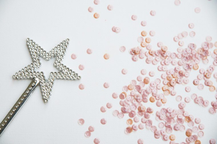 Sequins and magic wand background