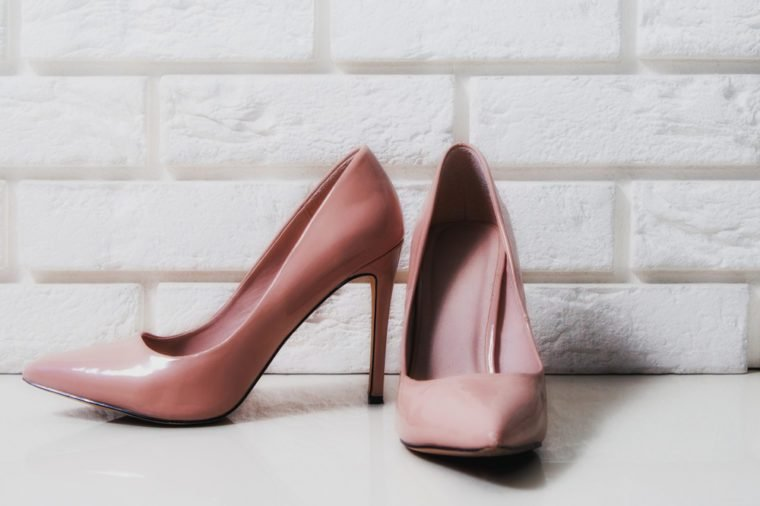 2e45b9604209 Your heels are too high. High heels. Beige high heels with a mascara on a  white
