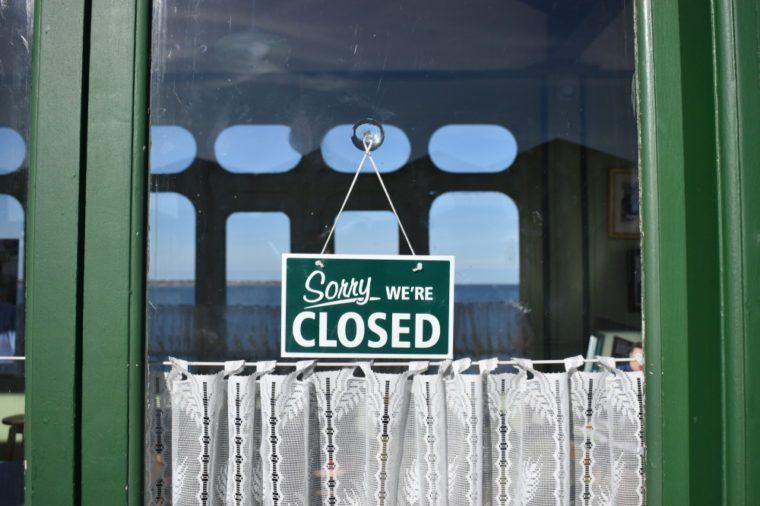 Shop Closed Sign