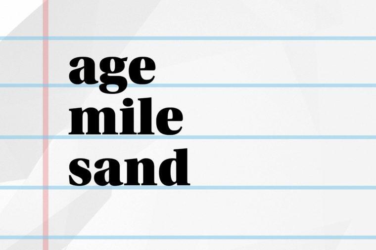 age mile sand
