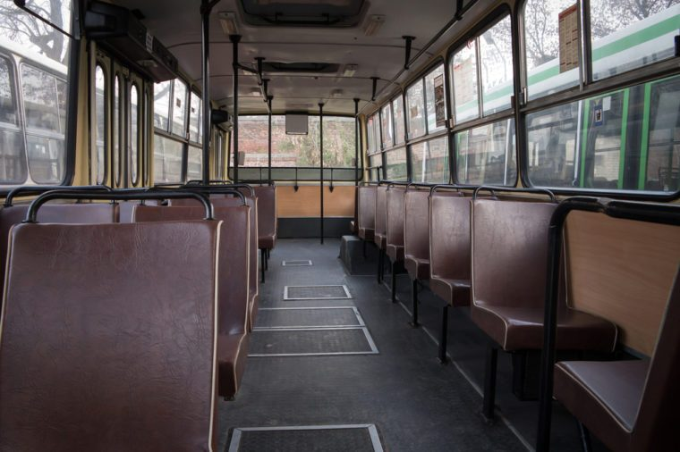 Old bus interior