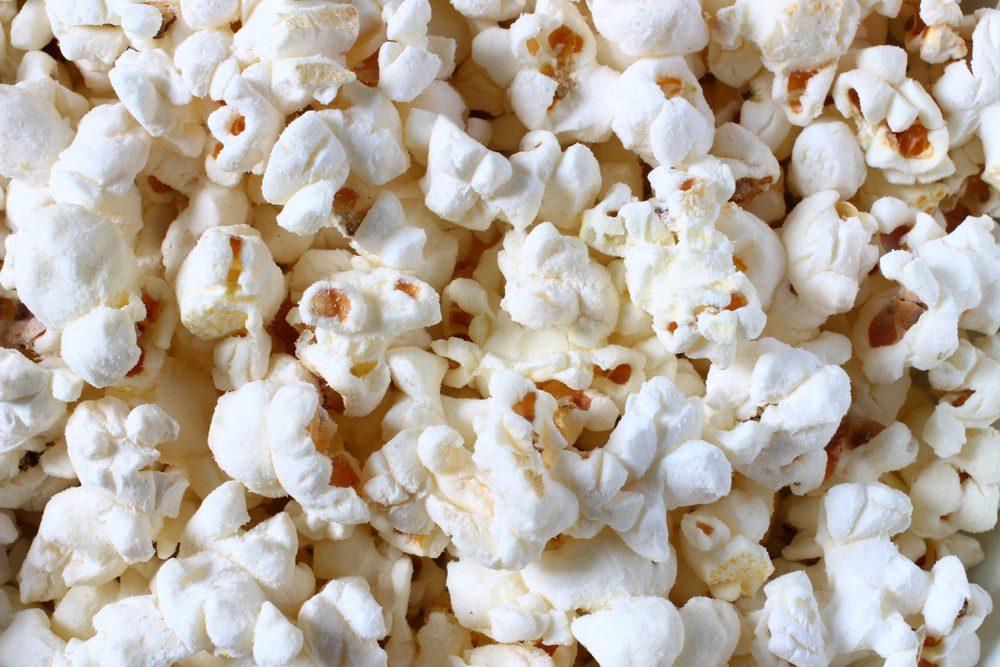 Popcorn texture close-up