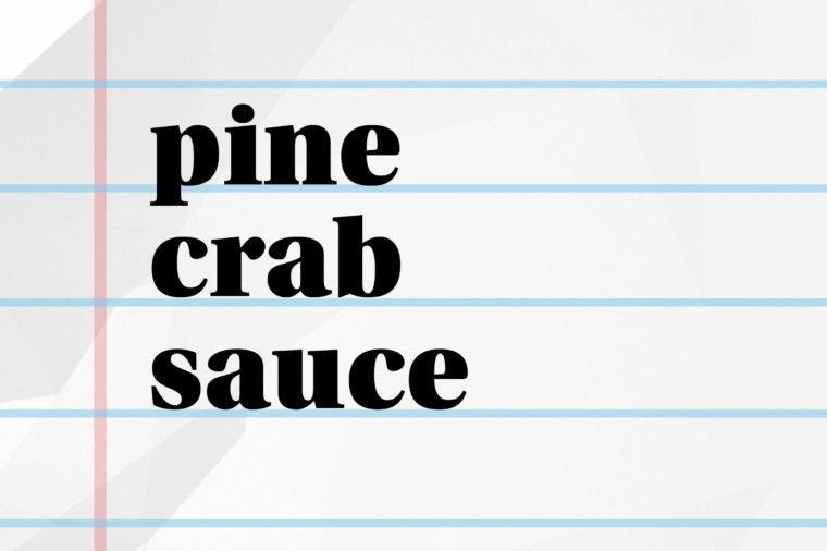 pine crab sauce