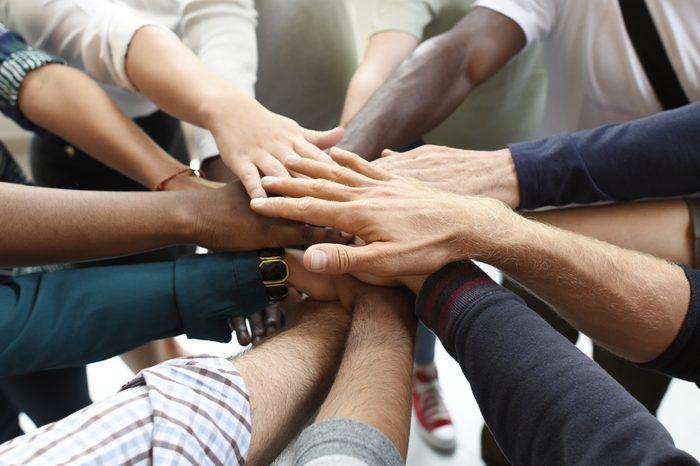 Start up Business People Teamwork Cooperation Hands Together