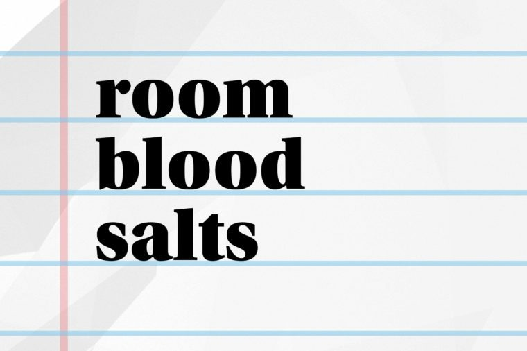 room blood salts