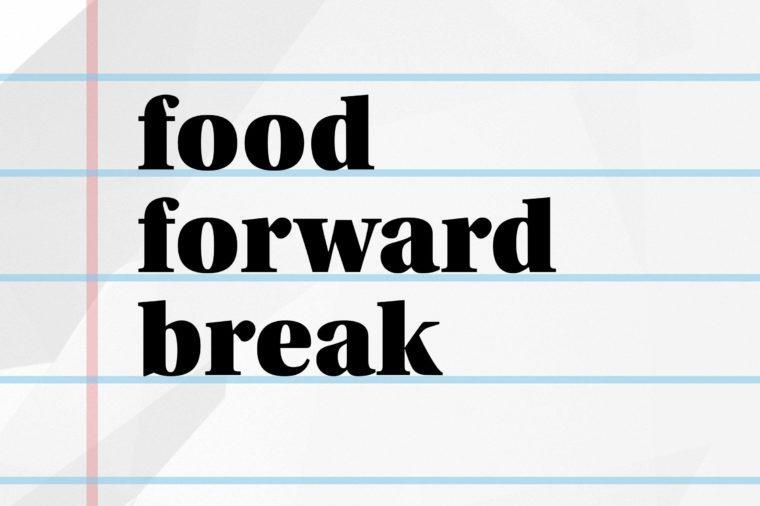 food forward break