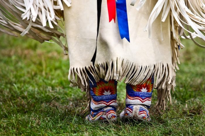 Native american dancer at a Powwow